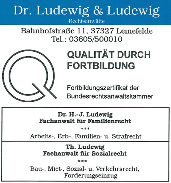 Rechtsanwalt Thomas Ludewig | Bahnhofstraße 15 | 37327 Leinefelde